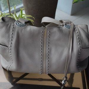 Brighton Taupe Leather shoulder bag
